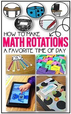 Math Rotations a Favorite Time of Day, guided math in first grade, kindergarten,second grade. love this system for math rotations. Daily 3 Math, Daily 5, Balle Anti Stress, Math Rotations, Numeracy, Math Blocks, 2 Kind, Math Groups, Second Grade Math
