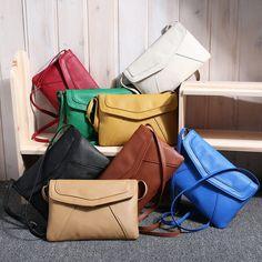 Femmes En Cuir de Sac de Messager Sacs À Main Épaule Croix corps Sac De Mode Vintage Petite Enveloppe Sacs D'embrayage cartables 103 sac