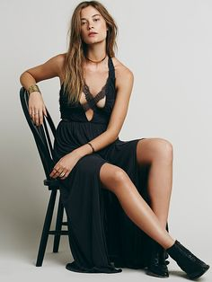 Free People Black Widow Maxi Dress at Free People Clothing Boutique
