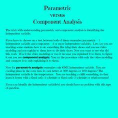 Parametric  versus  Component Analysis