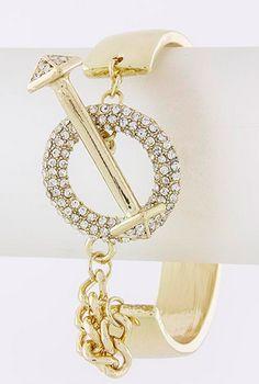 Crystal Toggle Metal Wrap Bracelet | SexyModest Boutique