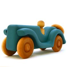 Ocean Blue Toy Car by hcwoodcraft on Etsy