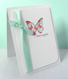 Use embossing folder on top white piece of cardstock after stamping sentiment