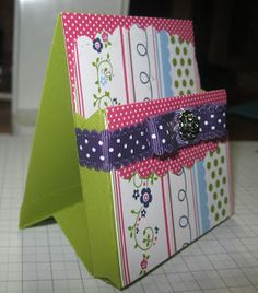 Make yourself a Post It Note Holder!! So cute!! I see some new Die shopping in my future!!! :)