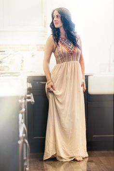 Image of Embroidered Chiffon Maxi Dress #boho #bohochic #boheian #bohemianstyle #style #fashion #musthave #maxidress