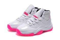 Womens Jordan 11 GS White Pink Online For Sale