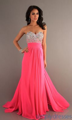 Hot pink sparkling ball gown, beauty!