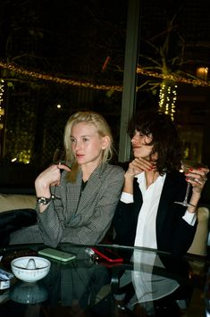 Mica Arganaraz and Nastya Sten at The Ritz. Paris, December 2016.