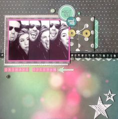 Making faces - Scrapbook.com  The papers used on this layout are from Crate Paper.