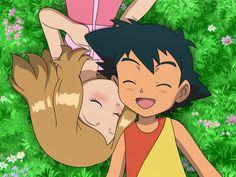 Childhood Memories 3 - First Kiss by on DeviantArt Pokemon Kalos, Pokemon Rayquaza, Pokemon Manga, Ash Pokemon, Pokemon Ships, Pokemon Comics, Pokemon Funny, Cool Pokemon, Pikachu