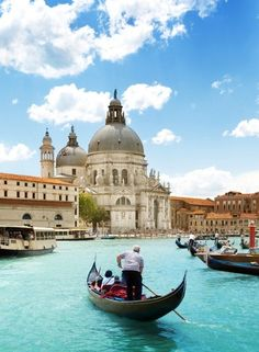 Grand Canal and Basilica Santa Maria della Salute, Venice, Italy and sunny day . 5 Quotes About Italy That Will Awake Your Wanderlust Places To Travel, Places To See, Travel Destinations, Holiday Destinations, Dream Vacations, Vacation Spots, Italy Vacation, Vacation Packages, Cruise Italy