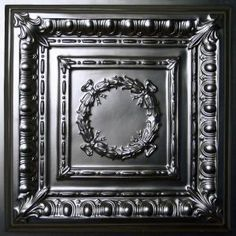 $3.89 / sq. ft.  Ceilume Empire Black 2 ft. x 2 ft. Lay-in or Glue-up Ceiling Panel (Case of 6) V3-EMPIRE-22BKO at The Home Depot - Mobile