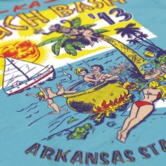 Kappa Alpha Order - KA - Arkansas State University KA - Beach Bash Design - Fraternity Tshirts - Check out b-unlimited.com!