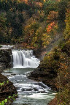 Letchworth Lower Falls, Letchworth State Park, New York; photo by Mark Papke