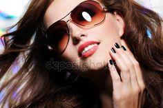 Baixar - Expressiva glamour mulher — Imagem de Stock #1519300