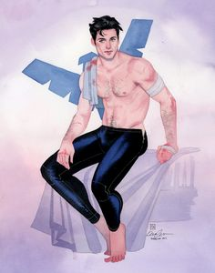 kevin wada illustration: Nightwing FlameCon 2015 commission
