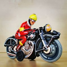 1970'ler - Josef Wagner - Sürtme Mekanizmalı Teneke Motorsiklet Old Toys, Motorcycle, Vehicles, Biking, Car, Motorcycles, Motorbikes, Vehicle, Choppers