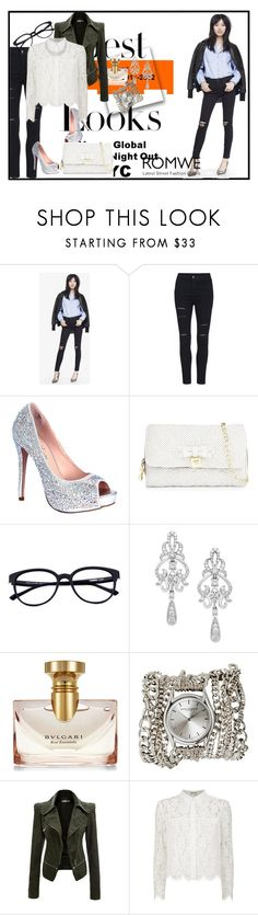 """""""High Waist Ripped Denim Black Pant"""" by amina-d-394 ❤ liked on Polyvore featuring Express, Lauren Lorraine, MML, Betsey Johnson, Wrapped In Love, Bulgari, Sara Designs, Chay, winterfashion and yesstyle"""