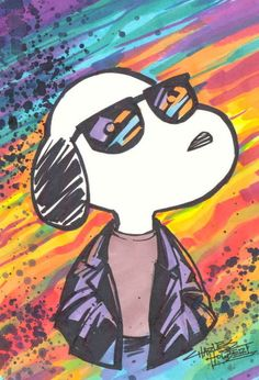 Snoopy......I SO belong in the midst of all this beautiful art work!!