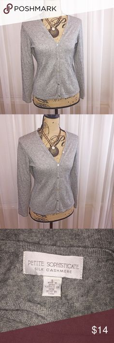 Silk cashmere blend cardigan You must feel this material to believe has soft and luxurious a cardigan can be. This material is exquisite Sweaters