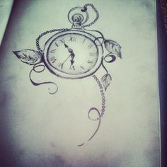 images of pocket watch tattoos   Pocket watch tattoo ;)