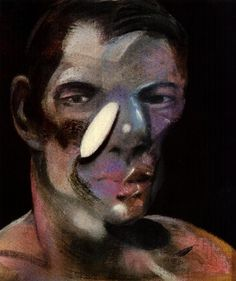 three studies for a portrait of peter board, 1975 ii left, Oil by Francis Bacon (1909-1992, Ireland)