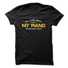 All care is my Piano - #christmas gift #creative gift. GET YOURS => https://www.sunfrog.com/Funny/All-care-is-my-Piano-Black.html?68278