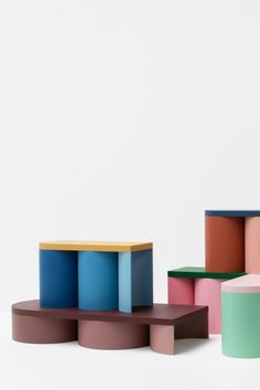 Design forward and beautiful stool for your home interior. Colorful stools with a contemporary design. Available in various color combinations. Shipping worldwide. Made to order. Carefully handmade in our atelier. Manufactured in an artisanal way, in which every step of the process is carefully executed. A design that adds value to every modern and contemporary home and interior. #stooldesign #stool #lowtable #sidetable #furnituredesign Studio Furniture, Furniture For You, Furniture Design, Colorful Furniture, Contemporary Furniture, Contemporary Design, Low Tables, Stools, Bright Colors