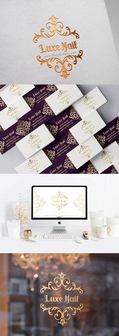 www.One-Giraphe.com #logo #logodesign #logodesigner #designer #design #luxury #graphic #graphicdesign #behance #dribbble New Brand Identity for sale! Contact me for info: onegiraphe@gmail.com #luxe #nail #nailsaloon #luxury Visual Identity, Brand Identity, Branding, Beauty Nails, Logo Design, Behance, Place Card Holders, Cosmetics, Logos