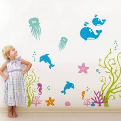 sea life nursery wall sticker by sirface graphics | notonthehighstreet.com
