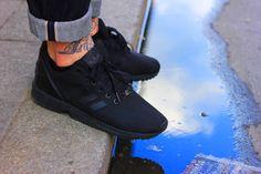 all black Adidas ZX Flux