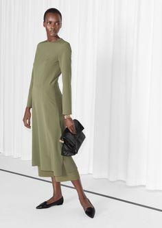 & Other Stories | Olive Slit Dress