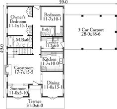 - 62072V | 1st Floor Master Suite, Bonus Room, CAD Available, Carport, Den-Office-Library-Study, PDF, Traditional | Architectural Designs