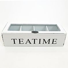 """The Tea Time Chest Wood in White, approx. 10 5/8 x 4 3/8 x 2 ¾"""", By Whole House Worlds... I think hubby could make this!"""