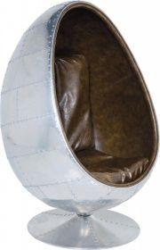 KARE Design Drehstuhl Soho Eye Ball Alu Brown | KARE Design