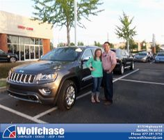 Wolfchase Chrysler Jeep would like to say Congratulations to Francisco Ramirez on the 2014 Jeep Grand Cherokee