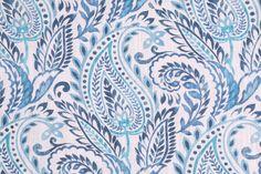 Richloom Algura Printed Cotton Drapery Fabric in Denim $14.95 per yard