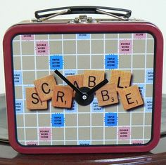 Scrabble Lunch Box Clock