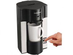 Cafeteira Elétrica Hamilton Personal Cup 2 Xícaras - Preta e Prata com as melhores condições você encontra no Magazine Toninhombpromove. Confira!