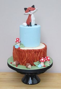 Woodland Theme - The Jolly Fox - Cake by The Buttercream Pantry