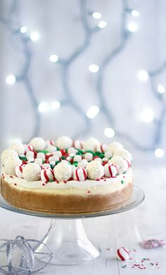Christmas Candy Cheesecake