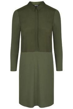 topshop Hybrid Jersey Shirt Dress
