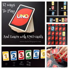 Imagination Station: A Bakers Dozen of UNO Learning Fun Ideas - 12 ways to learn and play with Uno Cards #SerenitySaturday