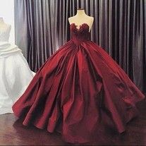 2019 New Quinceanera Dresses Ball Gown Sweetheart Illusion Lace Appliques Burgundy Long Sweet 16 Party Dress Formal Gowns Wedding Dress Necklines, V Neck Prom Dresses, Elegant Prom Dresses, Long Prom Gowns, Sweet 16 Dresses, Ball Gowns Prom, Ball Gown Dresses, Sexy Dresses, Dress Formal