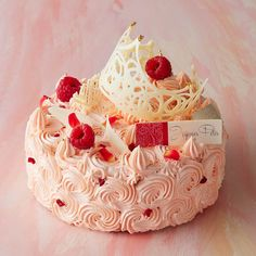 """Isetan opened a special website for their """"Isetan Christmas Cake & Gift sale on October 6 where they are now taking orders for Christmas cakes and other Strawberry Sweets, Strawberry Baby, Beautiful Desserts, Beautiful Cakes, Cake Decorating For Beginners, Sweet Box, Pastry Art, Gift Cake, Chocolate Decorations"""
