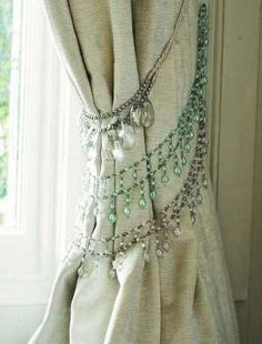 Chandelier Curtains : DIY, love the beading for Maddies curtains