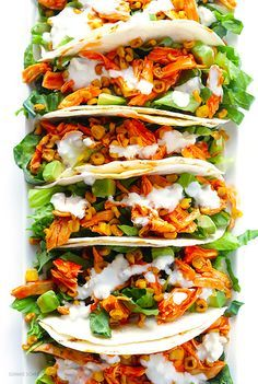 Buffalo Chicken Tacos -- quick and easy to make, and always a crowd favorite! | gimmesomeoven.com
