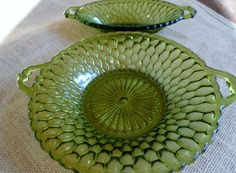 Vintage Indiana Glass 2 pc Serving Dishes by AstridsPastTimes, $20.00