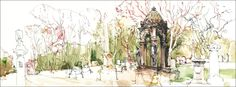 Urban Sketchers: Spring in the Cemetery