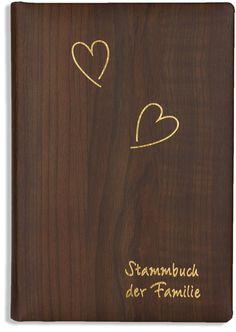 Stammbuch Forest A4 grau Familienstammbuch Stammbuch der Familie Holzoptik